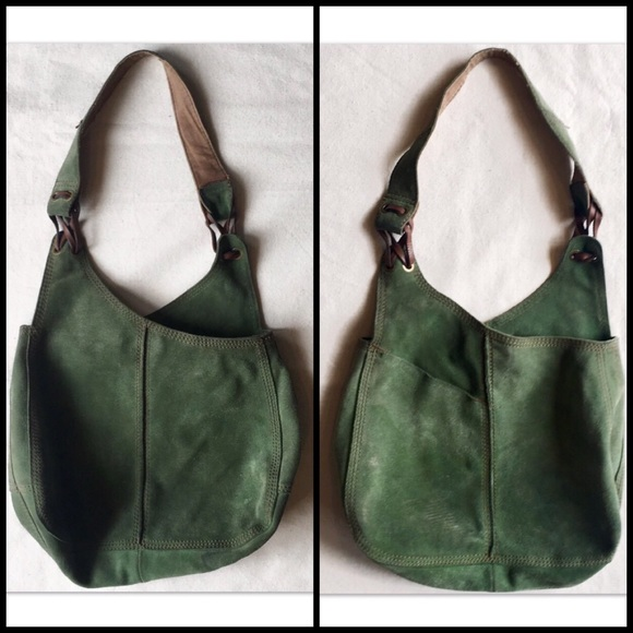 516a1bbb7a Lucky Brand Handbags - Lucky Brand🍀Vintage Inspired Green Suede Hobo Bag